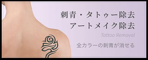 刺青・タトゥー除去、アートメイク除去 全カラーの刺青が消せる