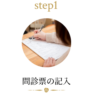 step1 問診票の記入
